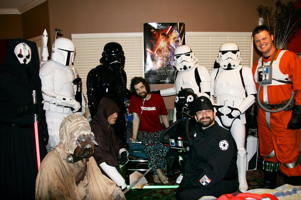 Had the honor of visiting Daniel Fleetwood, the terminally ill fan who was granted his wish of seeing the Force Awakens early after his cause swept the news. He died a few days afterwards.