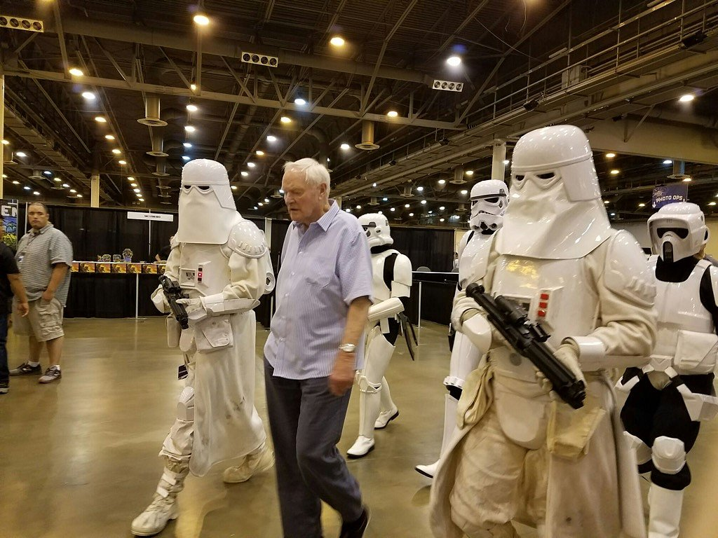 The day I got to meet Julian Glover (Empire Strikes back,Indiana Jones and the Last Crusade, Game of Thrones). Even got to escort him to his Q&A panels dressed out as a snowtrooper.