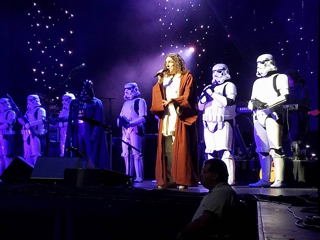 Just on stage with Weird Al Yankovic, no big deal. that's me on the far right.