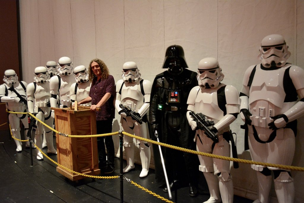 Stormtroopers of our South Texas Squad with Weird Al Yankovic.