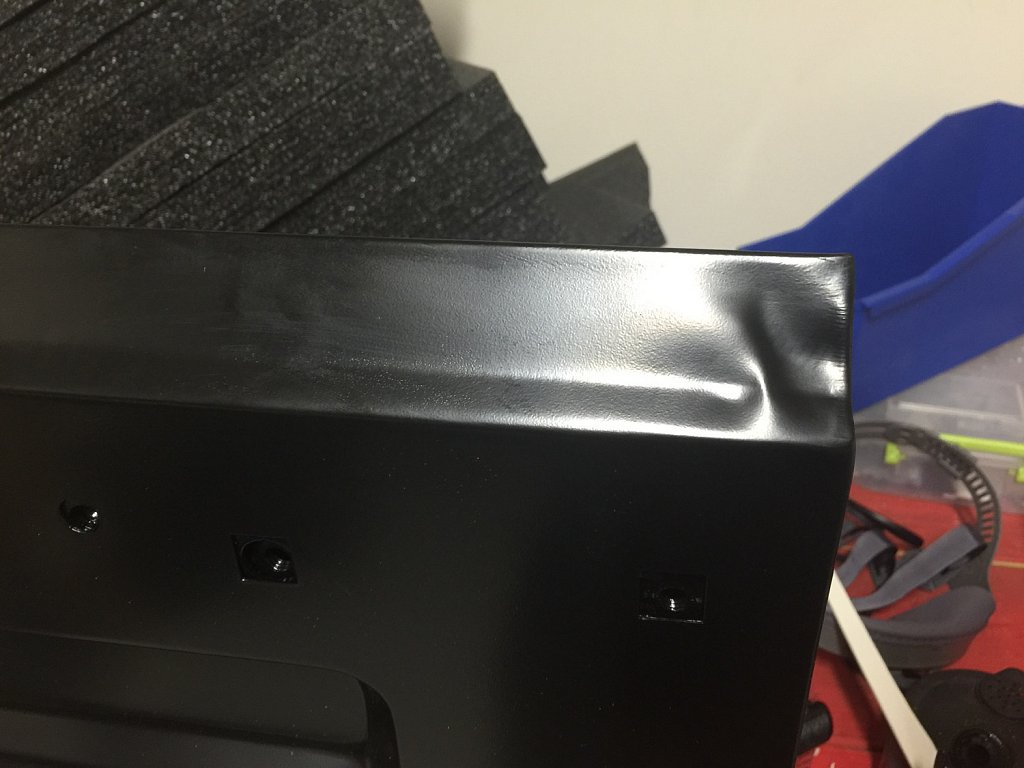 Ordered a brand new tailgate door since the existing one has a crack in the metal. Of course it arrives bare in a shin cardboard box, with the corner completely crumpled. What did they think was going to happen?