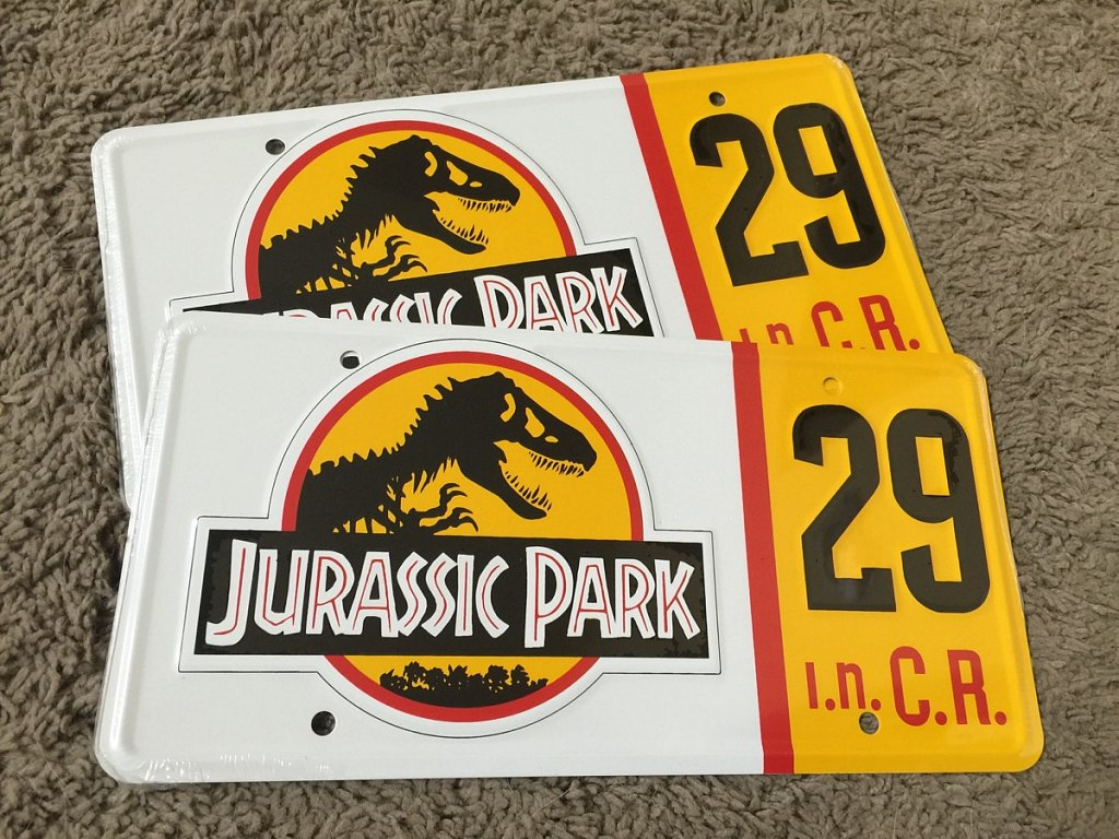 Another package arrived today, my legit stamped JP license plates.
