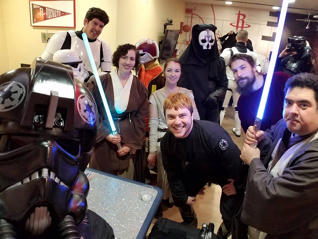 South Texas Squad of the 501st suiting up at Hermann Memorial